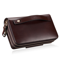 2019 Luxury Men Wallets Fashion Genuine Leather Bag Male Day Clutches Brand Handbag Vintage Men Clutch Bags Carteira Masculina