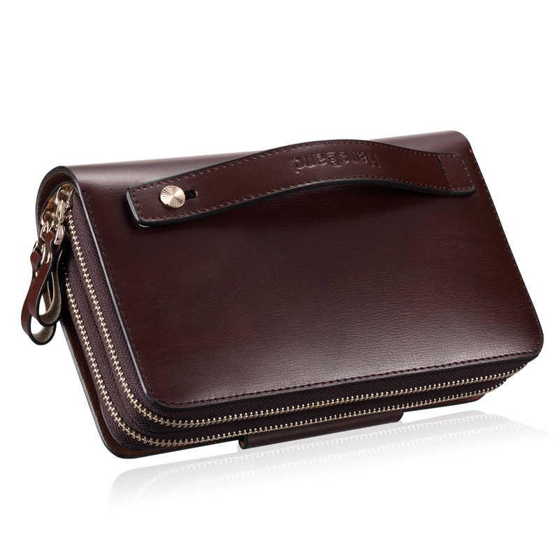0687394d1b1f 2019 роскошные мужские портмоне модные пояса из натуральной кожи сумка  мужской ежедневные клатчи бренд сумки Винтаж