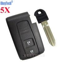 OkeyTech 5 teile/los 2 Taste Auto Remote Key Smart Card Shell für TOYOTA PRIUS COROLLA VERSO Uncut TOY43 Klinge Ersatz fob Fall