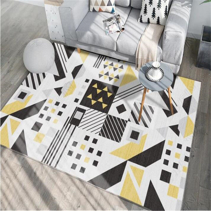 Fashion Modern Nordic Style Carpet livingroom Geometric Bedroom Door Rug Carpets For Living Room Parlor tapete Decorative Mat in Carpet from Home Garden