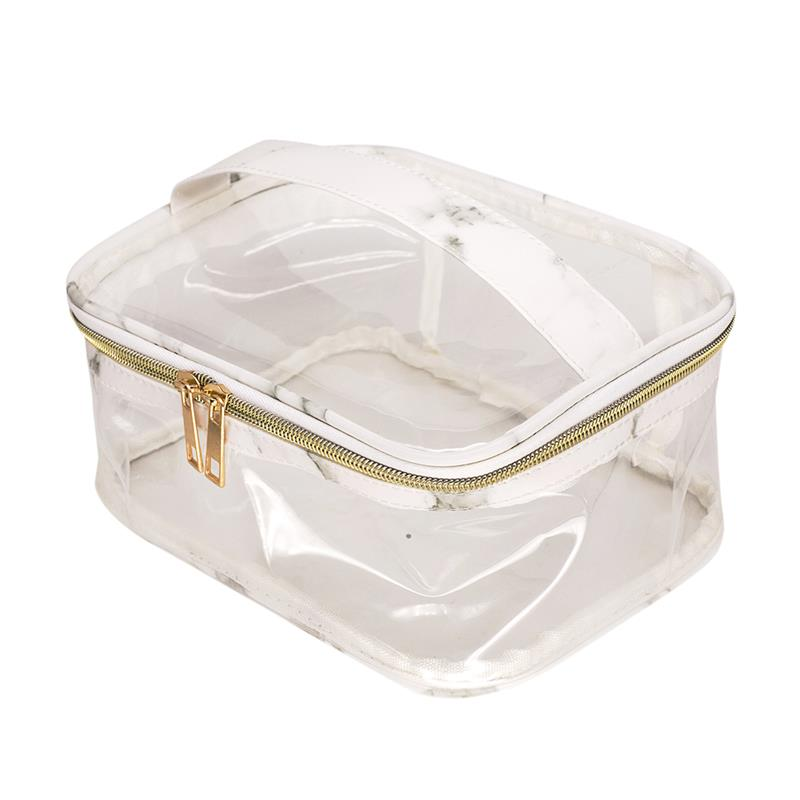 2019 Fashion Marble Print PVC Transparent Storage Cosmetic Bag Clear Splash Proof Cosmetic Bag Toiletry Bag For Women Ladies