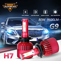 Auxbeam All-in-One SMD Chips Car H7 Headlight Bulbs 6500K 80W/pair H7 Led Fog Lamps For Toyota/Honda Single Beam Car Bulb Kits