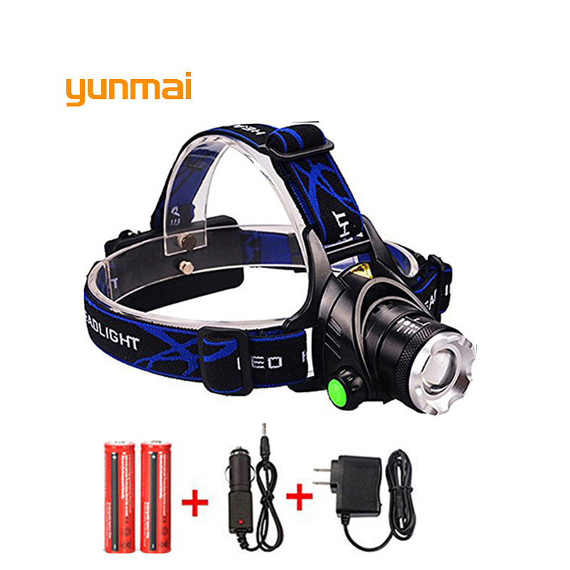 Cree XM-L T6 XM-L2 Head Lamp High Power LED Headlamp 3Modes LED Headlight EU/US Charger Use 18650 battery For Hunting/Camping led headlamp cree xm l t6 led 2000lm rechargeable head lamps headlights lamp lights use 18650 battery ac charger head light