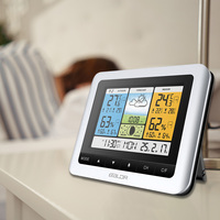 HOT Wireless Weather Station Alarm Clock Digital Indoor Outdoor Thermometer Hygrometer LSF99