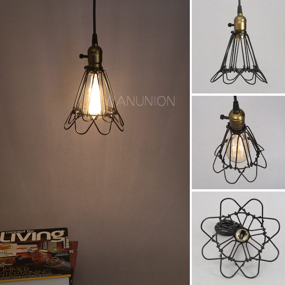 FRLED Fashion Vintage Wire Lamp Cage DIY Lampshade Industrial Lamp ...