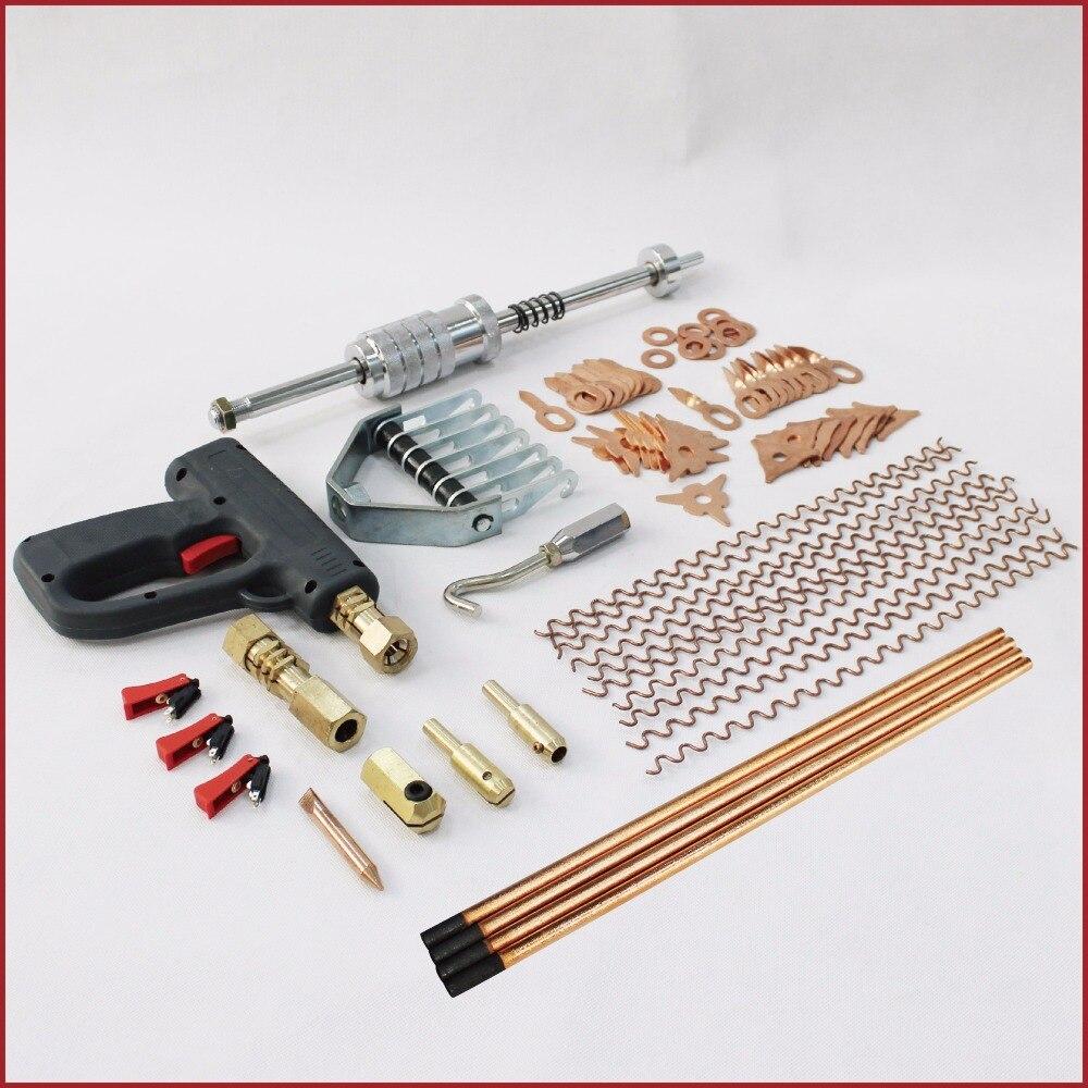 цена на car dent remover puller body repair tools device auto fix removal set stud welder kit spotter spot welding gun hook claw hammer