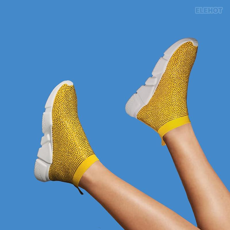 Elehot Yellow Dress Shoes Sneakers
