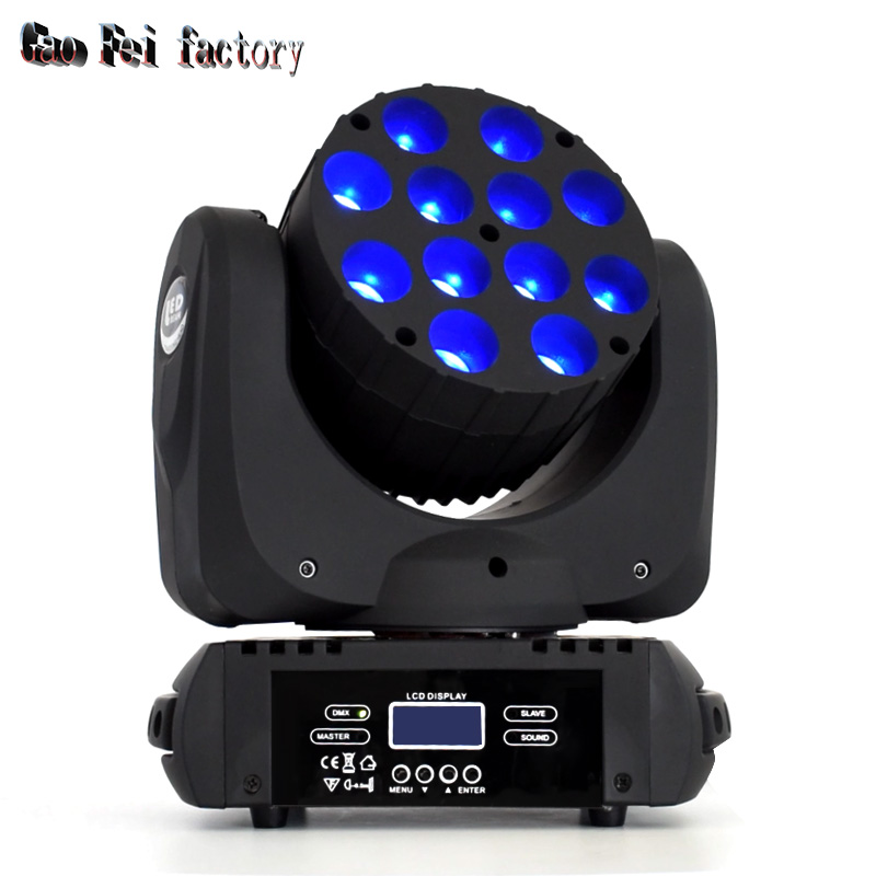 Moving Head LED Wash 12X12W RGBW 4in1 DMX Beam With Wash Effect For DJ Stage