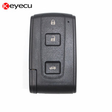 Keyecu 3 Button Replacement Keyless Smart Remote Shell Housing Case Key Cover for Toyota Avenis Crown Prius Verso Rav4