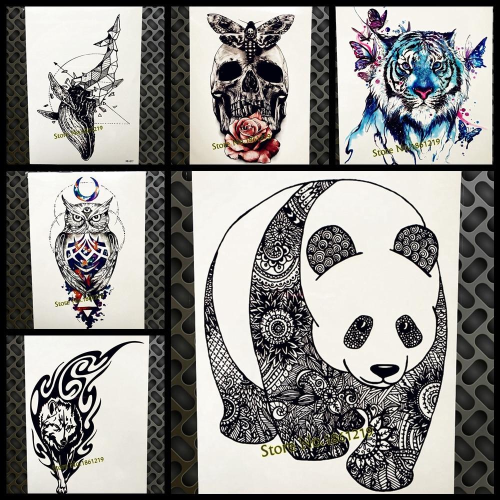 Does A Henna Tattoo Cost: Chinese Black Panda Henna Waterproof Fake Temporary Tattoo