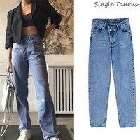 Straight Jeans Women Irregular High Waist Streetwear Fashion Icon Fashionnova Loose Mom Jeans Boyfriend Denim Spodnie Damskie