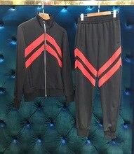WRD07298BE Новое поступление Для мужчин наборы 2018 взлетно-посадочной полосы дизайнер модного бренда Костюмы Европа Стиль Мужская одежда