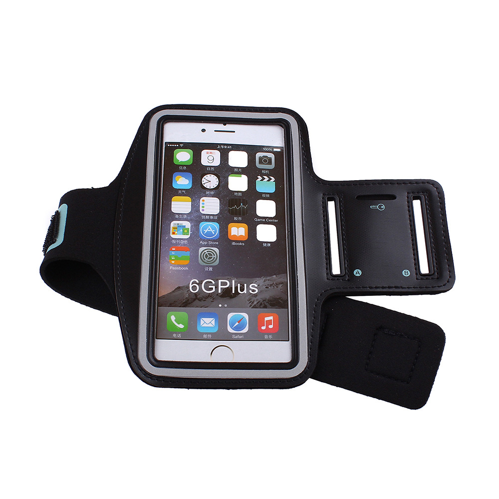 Dir-Maos For iPhone 8 Plus Arm Band Pouch Sport Carring Bag Fashion Waterproof Cover Run Gym Belt Key Slot COOL CASE Walking Dog