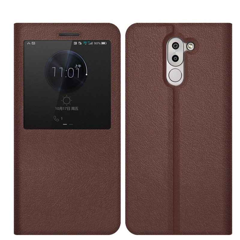 Case for Huawei honor 6x Brand Stand Holder PU leather