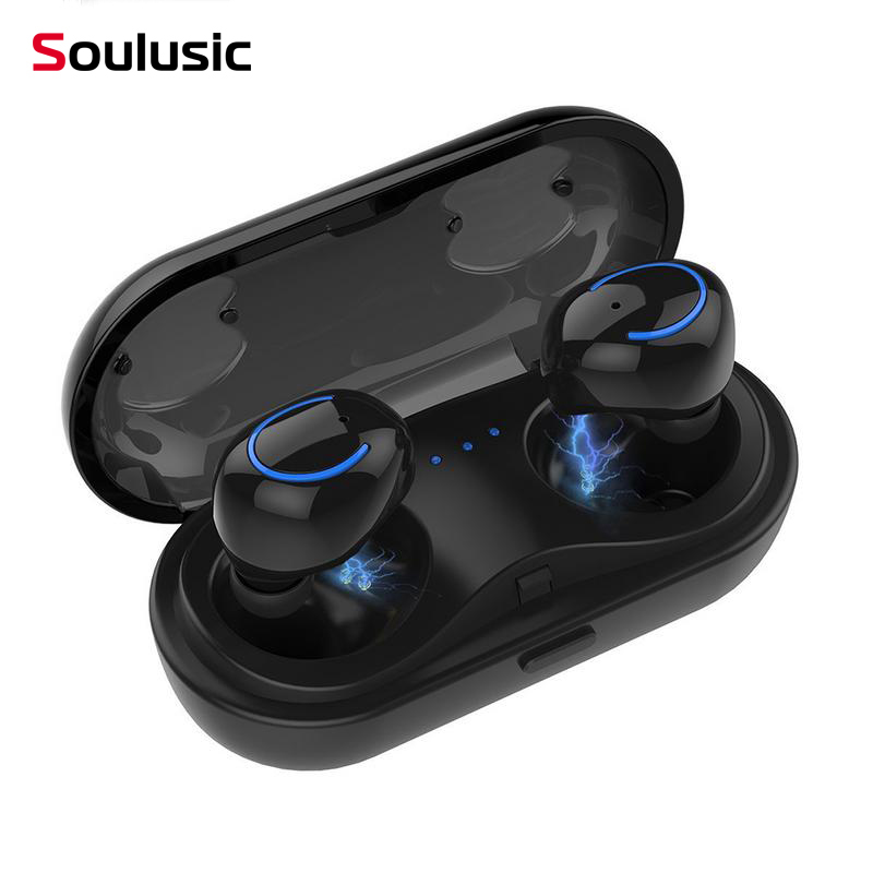 Soulusic HBQ Q18 <font><b>TWS</b></font> Mini Wireless Headphones Bluetooth Noise Canceling Earphones Earbuds Headset With Microphone Charging Box image