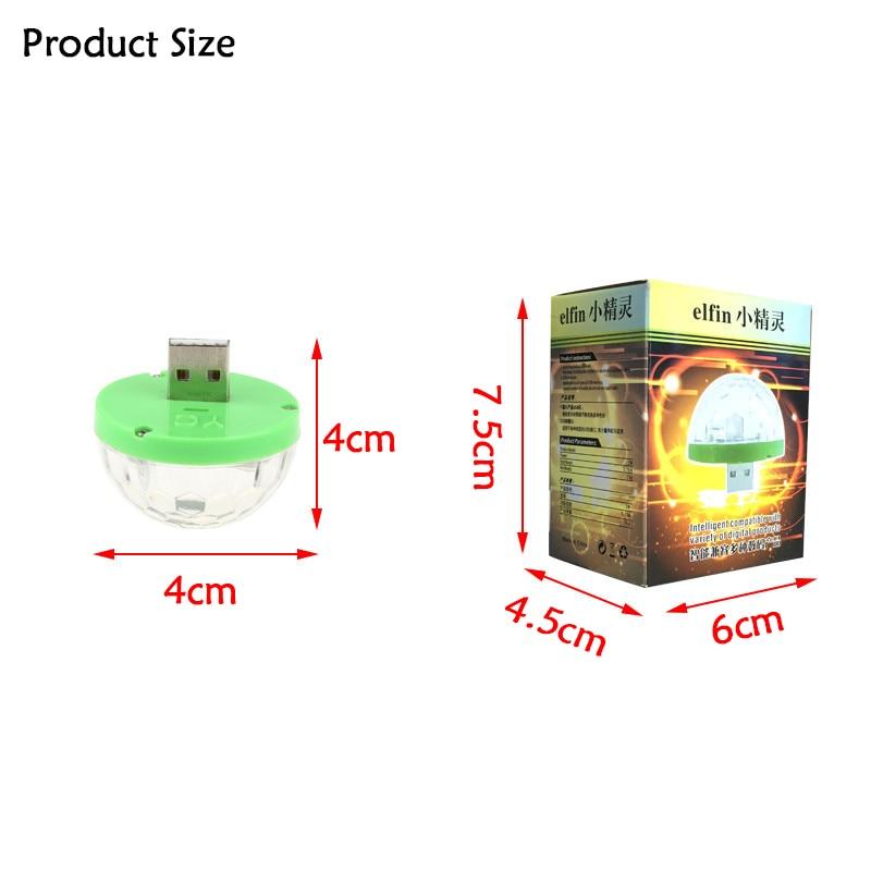Мини 5 В USB дискотечный шар цветов RGB лазерный проектор Сияющий диско свет этап DJ свет для дома вечерние украшения DA