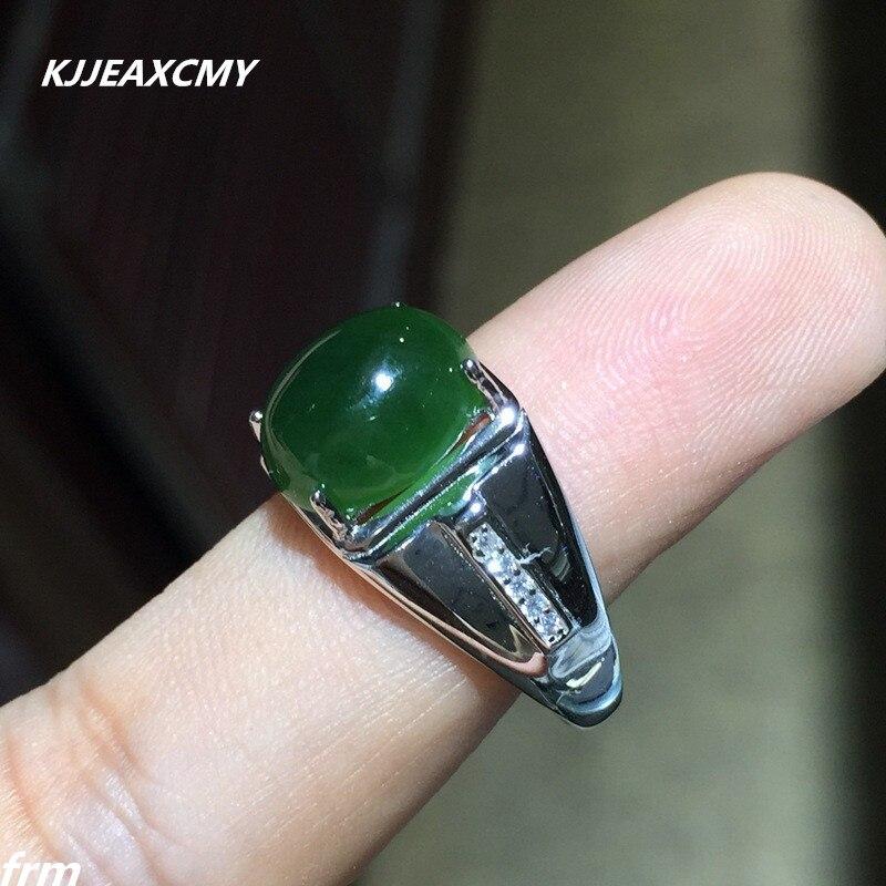 Kjjeaxcmy Fine Jewelry Оптовая Продажа 925 серебро Для мужчин кольцо и Тянь BIYU выстрел оригинального живой естественный