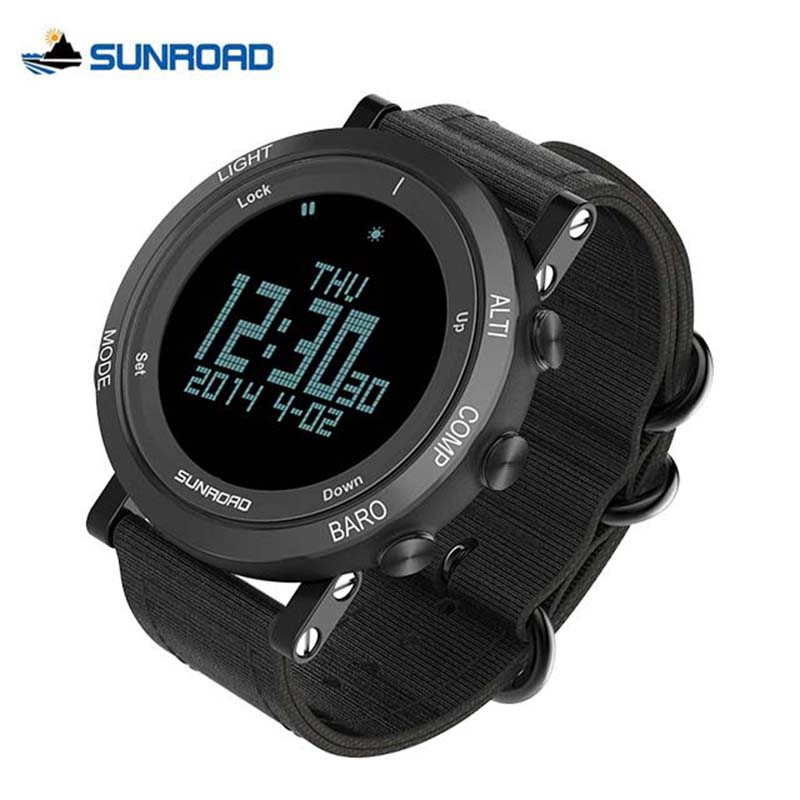 SUNROAD Weather Forecast Climbing Watch Pedometer Barometer Altimeter Compass Waterproof Smart Watches Outdoor Camping Relogio