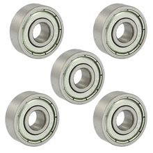 Hot 606Z 6 x 17 6mm Metal Miniature Deep Groove Ball Bearings 5 Pcs