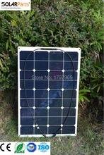 Solarparts 1PCS 75W flexible solar panel 12V solar panel solar cell yacht boat RV solar module