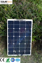 Solarparts 1PCS 75W flexible solar panel 12V solar panel solar cell yacht boat RV solar module for car/RV/boat battery charger