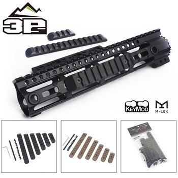 цена на 6pcs/Set Polymer Airsoft Tactical KeyMod M-LOK Picatinny Rail Cover Softair Gun Handguard Protection Rail Mount for 20mm Rail