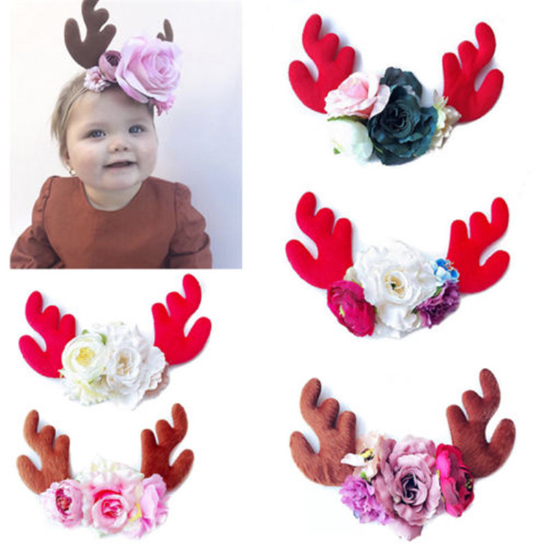 Cute Girl Baby Toddler Infant Flower Headband Hair Bow Band Accessories Purple.