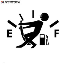 SLIVERYSEA 12.7*9.2CM Funny Decal Fuel Gage Empty Stickers Vinyl JDM Car Stickers Car Styling Black Sliver #B1361 7 7cm 12 2cm 3 crosses with john 3 16 christian jesus car stickers car styling and accessories black sliver c8 1277