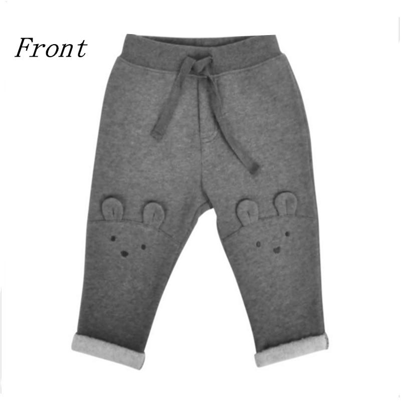 ФОТО Children's Winter Warm Boy Elastic Waist Legging Casual Harem Long Sports Pants Kids Clothing Dark Grey High QualityTrousers
