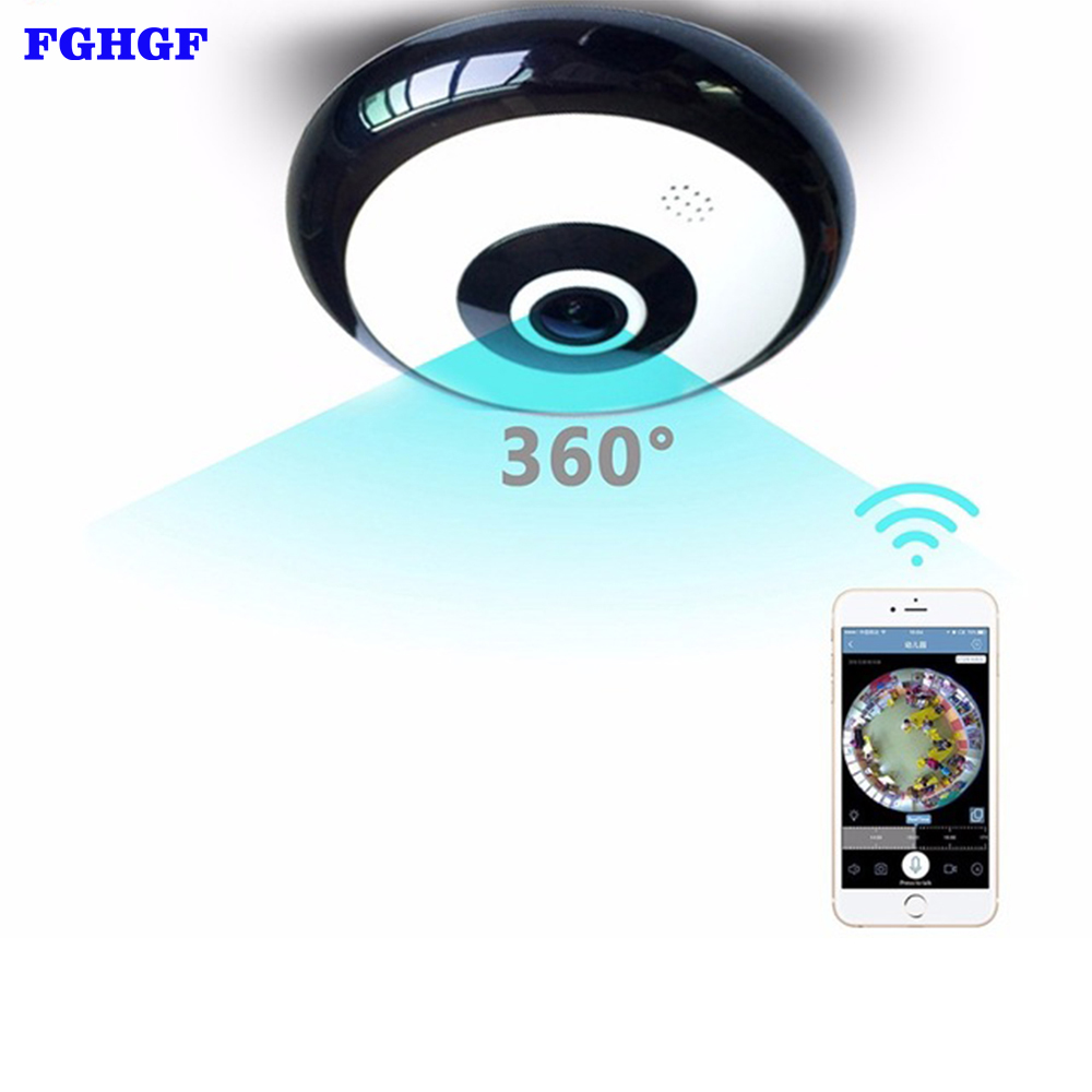 FGHGF IP Camera 960P 360 Degree Panoramic Fisheye 3D VR Wireless Wifi Home Security Camera Super Wide Angle Surveillance Camera karue 360 camera 360 panoramic camera vr camera 210 degree dual wide angle fisheye lens 360 camera for android smartphone