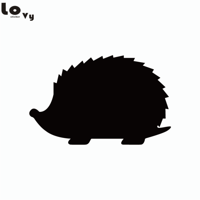 Wildlife Forest Animal Hedgehog Vinyl Wall Sticker Cartoon