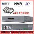 Высокого разрешения профессия 2u полный onvif видеорегистратор nvr 24ch 1080 P с HDMI p2p-клу для ip камера с 8 ТБ + бесплатная доставка