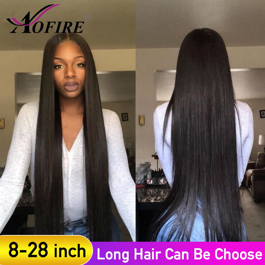 6-28 Inch Lace Front Human Hair Wigs Brazilian Straight Remy Hair For Black Women With Baby Hair Bleached Knots  Pre Plucked