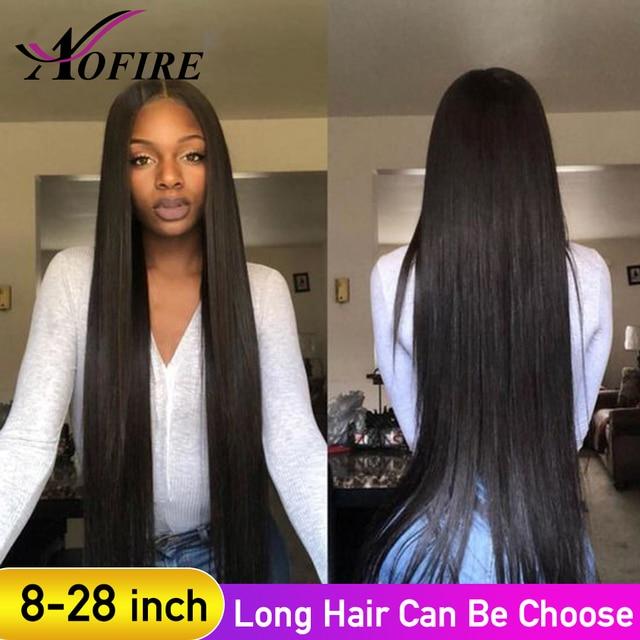 Pelucas de cabello humano frontal de encaje de 8-28 pulgadas pelo Remy recto brasileño para mujeres negras con pelo de bebé blanqueado nudos Pre arrancado
