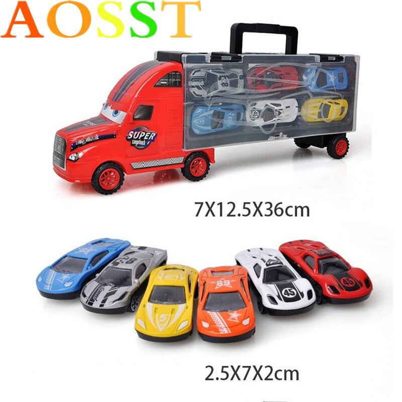 Portable Container Truck Alloy Automobile Simulation Car ...