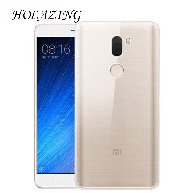 HOLAZING прозрачный гель ТПУ Резиновая Мягкий силиконовый чехол для Xiaomi Mi5S плюс 5,7 Обложка Ультра тонкий защитный кожи крышка