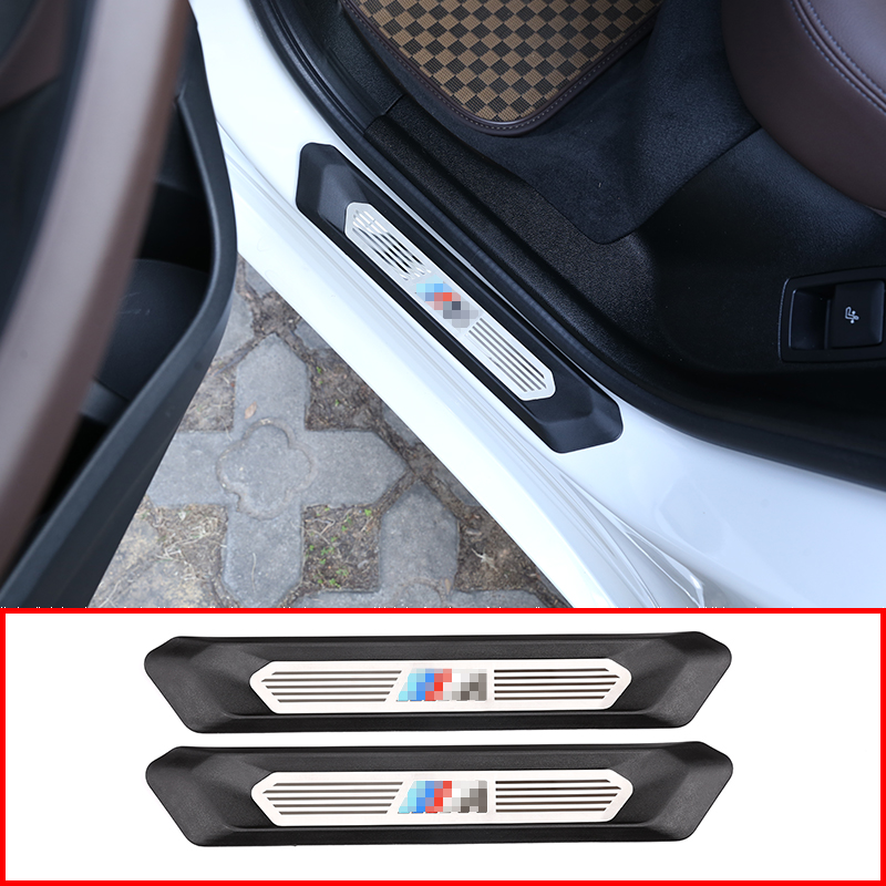 2pcs Auto Parts Door Sill Protection Board Protection Trim For BMW X3 G01 For BMW X4 G02 2018-2019 Car Accessories