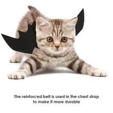 71cf687ca مضحك الحيوانات الأليفة تأثيري زي الخفافيش أجنحة الأسود بارد صالح حزب الكلاب  القطط اللعب اكسسوارات ل هالوين حزب احتفالي