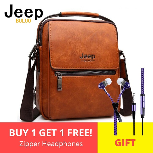 e46379799a Large Capacity Man s Shoulder Bags JEEP Brand Man Split Leather Crossbody  Messenger Bag High Quality Business