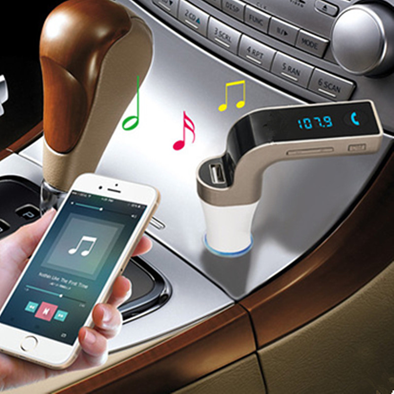 1Pcs Useful Wireless In-Car Bluetooth FM Transmitter with USB flash drives /TF Music Player, Bluetooth Car kit USB Car charger