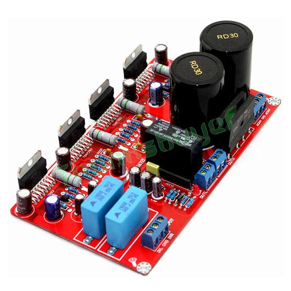 Assembled TDA7293 Parallel Stero Power Amplifier Board TDA7293 2.0 CH Parallel Amplifier Board w/ Rectifier & Speaker Protection