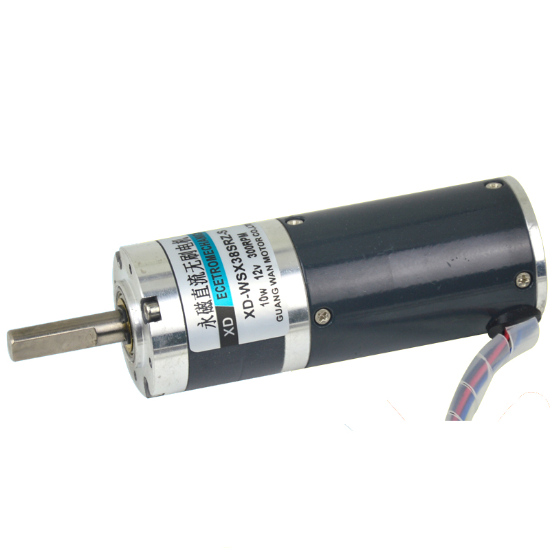 12V 24V brushless DC motor, miniature speed motor, planetary gear motor, WSX38SRZ 10W slow motor zga37ree 37mm miniature dc gear motor adjustable speed motor reversing 12v 24v 5rpm 350rpm