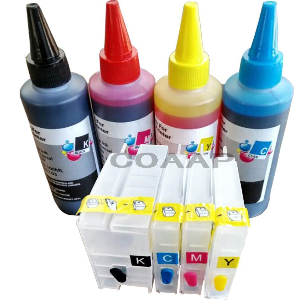 Cartouche d'encre rechargeable pour imprimante Compatible hp 950 951 Officejet Pro 8610 8620 + encre à colorant 400 ml (avec puce)