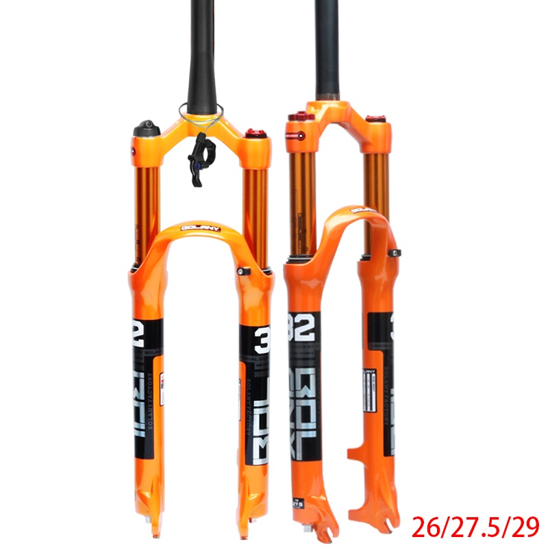 MTB Bicycle Fork Magnesium Alloy Air Suspension 26 27.5 29er Inch 32 HL RL100mm Bike Fork Lockout For Bicycle Accessories