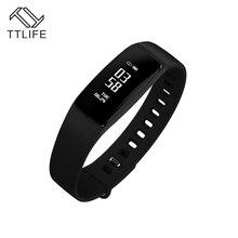 TTLIFE V07 Smart группа крови Давление браслет сердечного ритма фитнес-трекер Шагомер Bluetooth 4.0 браслет часы для IOS Android