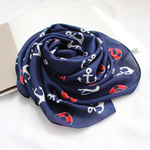 Square scarf female Korean wild decorative scarf scarves female navy wind sea aiming decorative scarf Korean version