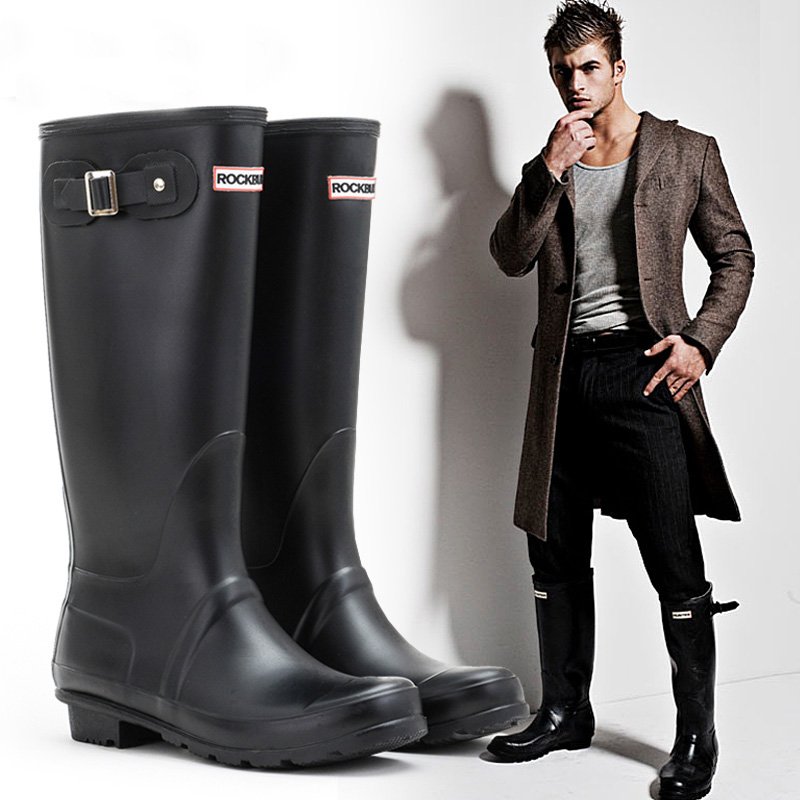Popular Man Rain Boots High Fashion Rain Boots Man in The-Buy ...