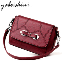 Women Leather Handbags Designer New Bow Luxury Bags For Women 2018 Women Messenger Shoulder Bag Top-handle Bags Flap Sac A Main