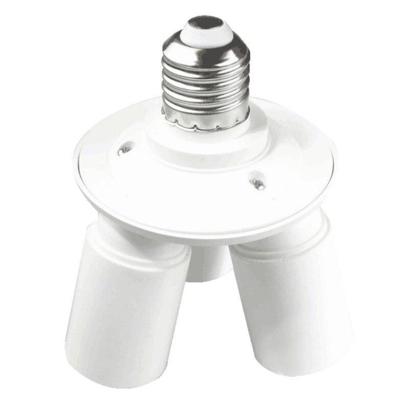3 In 1 E27 Base Socket 110V-240V Lamp Socket Splitter Light Lamp Bulb Adapter Holder E27 Lamp Holder Converter