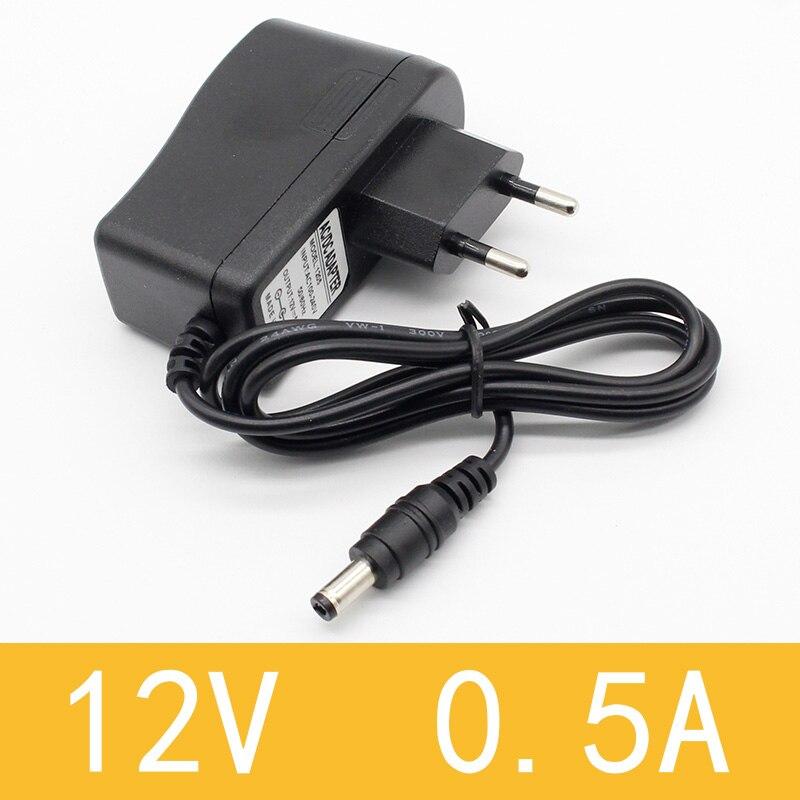 1 шт. 100-240 В AC в DC адаптер питания зарядное устройство адаптер 5 в 12 В 1A 2A 0.5A ЕС Штекер 5,5 мм x 2,5 мм/5v3aDC штекер Micro USB - Цвет: 12V0.5A